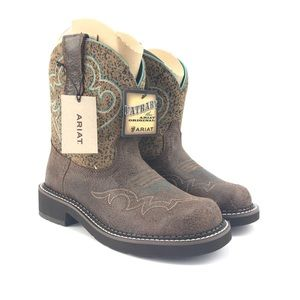 Ariat Womens Fatbaby Heritage Crackled Bay Boots